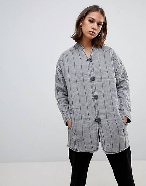 Waven Lykke quilted collarless jacket