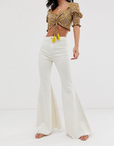 We The Free by Free People Just Float On high waist flare jean