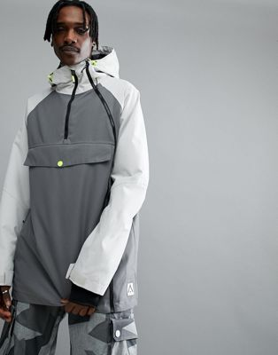 Wear Color Coil Snow Anorak in Gray