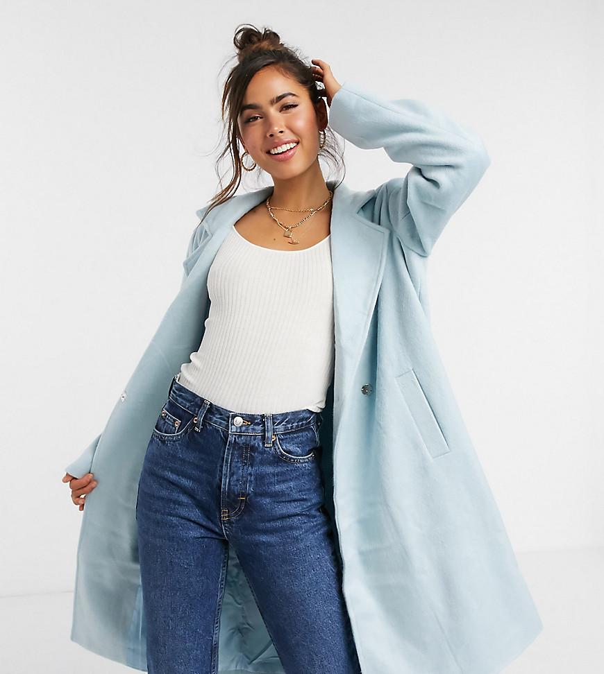 Wednesday's Girl - Figursyet frakke i pastel-Blå