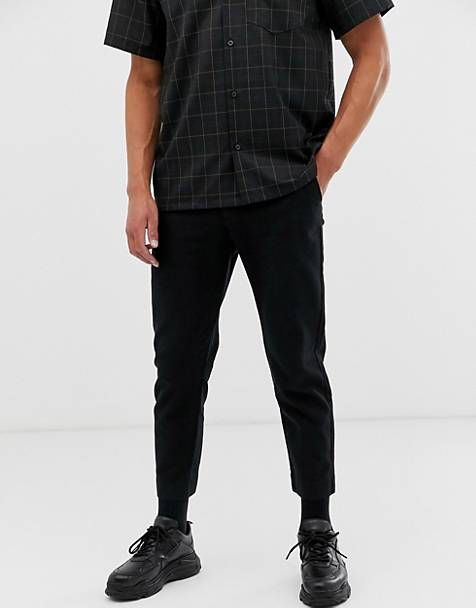 Weekday Arbus Twill pants in black