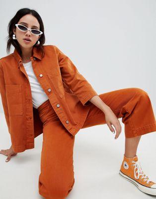 Image 1 sur Weekday - Denim - Jean large avec coton bio - Rouille