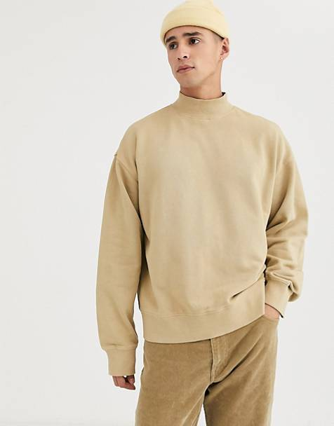 Weekday Dennis sweatshirt in camel