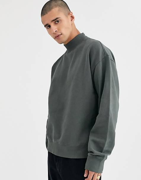 Weekday Dennis sweatshirt in dark gray