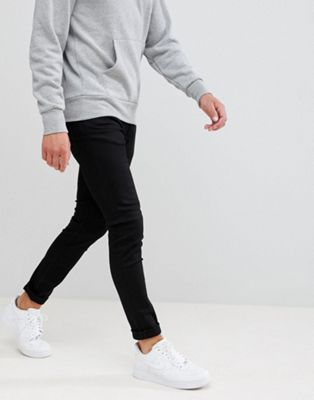 Weekday Form Super Skinny Jeans Black Wash