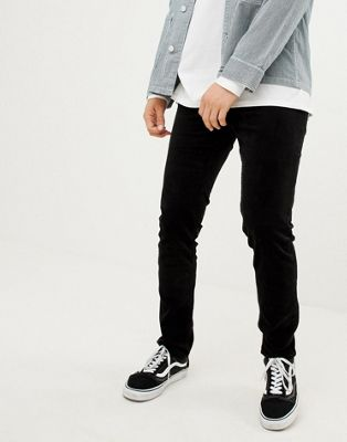 Image 1 of Weekday friday skinny cord pants black