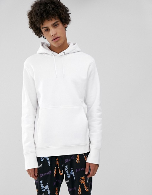 Image 1 of Weekday Hawk hoodie in white