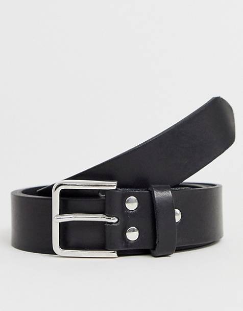 Weekday Leather Belt In Black