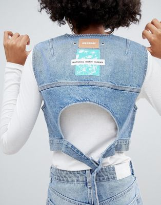 Image 1 of Weekday Limited Collection Denim Vest With Back Buckle Detail