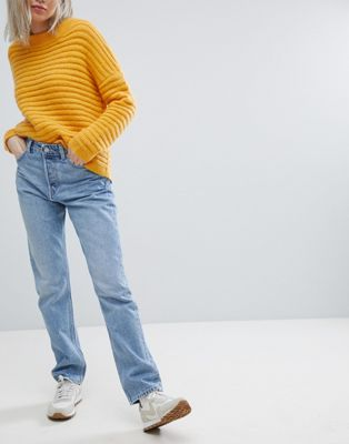 Weekday Line Vintage Look Straight Leg Jean