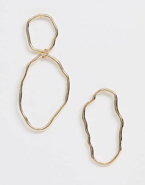 Weekday mix match earrings in gold