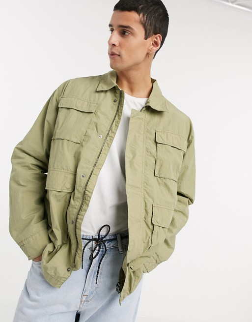 Weekday Nate jacket in khaki