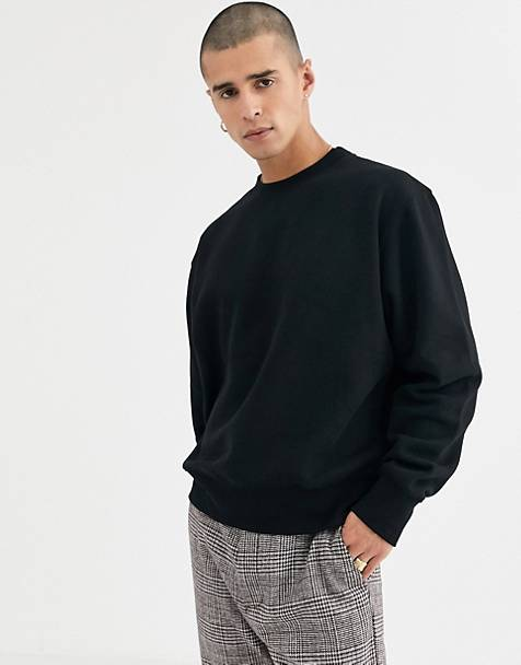 Weekday oversized Albin sweatshirt in black
