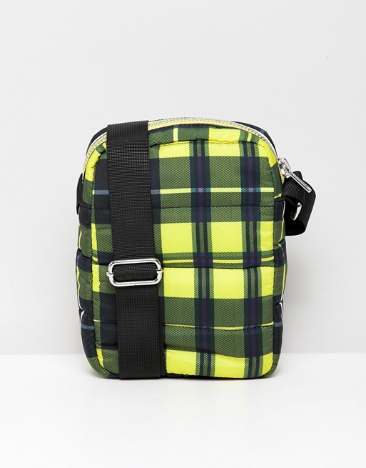 Image 1 of Weekday Piff crossbody bag in yellow check