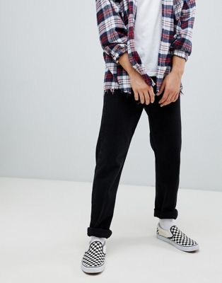 Image 1 of Weekday Pine straight cropped jeans tuned black