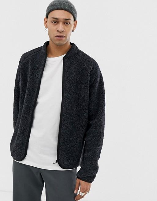 Bild 1 von Weekday – Shaun – Pullover mit Reißverschluss in Schwarz