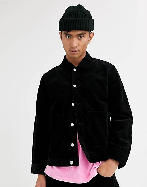 Weekday Shore cord jacket in black