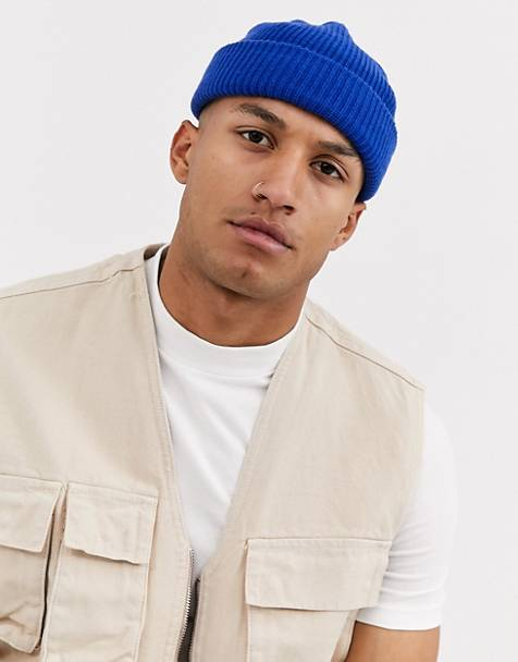 Weekday Stan fisherman beanie in blue