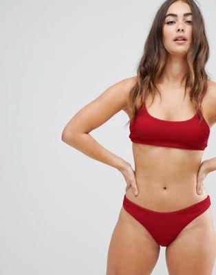Image 1 of Weekday Sun Textured Crop bikini top