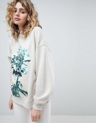 Bild 1 von Weekday – Sweatshirt mit Oversize-Print