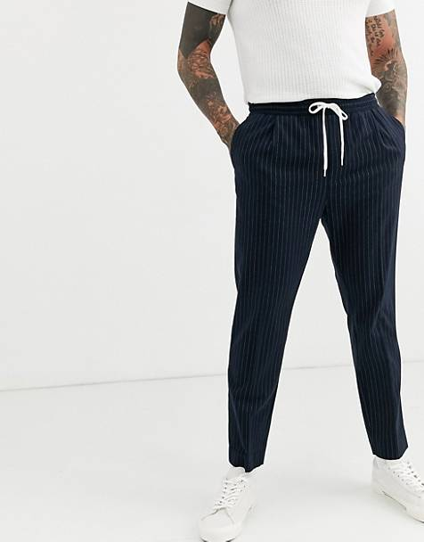 Weekday Thriller sweatpants with pinstripe in navy