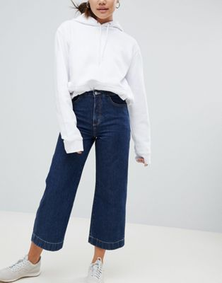 Weekday Wide Leg Denim Trouser