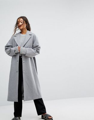 Weekday Wool Coat in gray