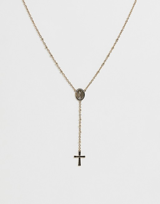 WFTW cross necklace in gold