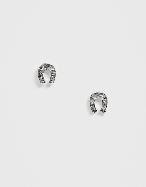 WFTW –Silberne Ohrringe mit Hufeisendesign