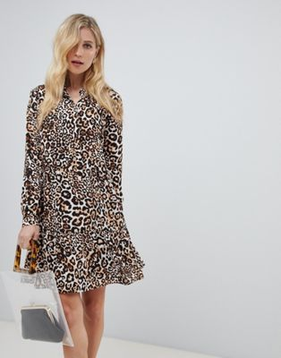 Whistles animal print shirt dress