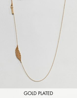 Whistles Leaf Long Necklace