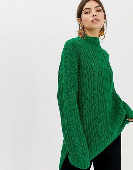 Image 1 of Whistles Limited chunky cable knit jumper