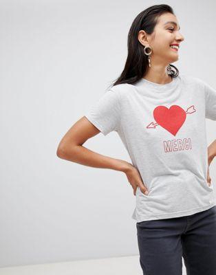 Whistles – Merci – T-shirt med hjärta