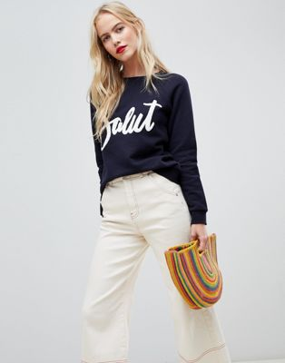 Whistles Salut Applique Sweatshirt