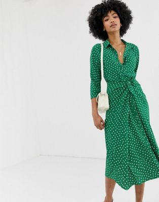Image 1 of Whistles Selma polka dot  tie dress