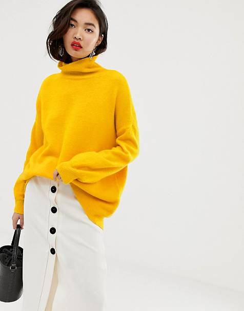 Whistles slouchy funnel neck sweater