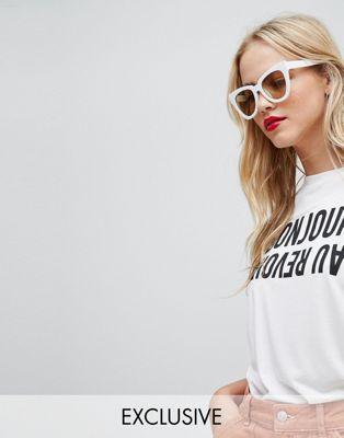 """Whistles – T-Shirt mit """" Bonjour Au Revoir""""-Slogan"""