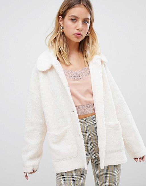 Wild Honey oversized fleece coat