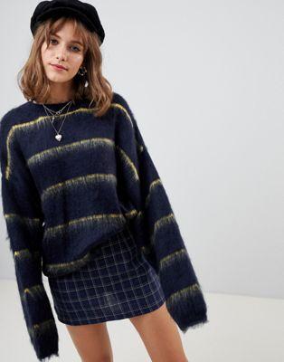 Wild Honey oversized jumper in stripe