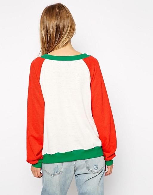 Wildfox Christmas Sweater.Wildfox Baggy Beach Sweatshirt With Christmas Reindeer Print