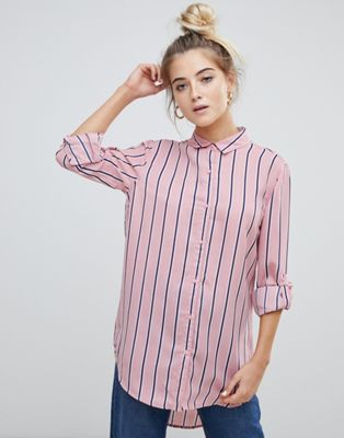 Image 1 of Willow & Paige boyfriend shirt in stripe