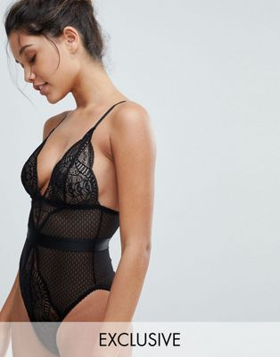 Wolf & Whistle Black Lace Mix Body