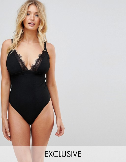 Wolf & Whistle Eyelash Lace Swimsuit DD - G Cup