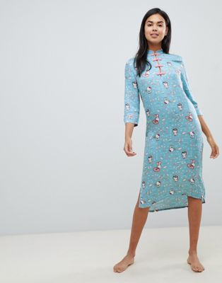 Women'secret Hello Kitty Japan night dress in blue