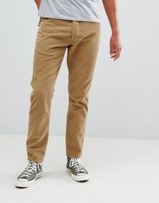 Wrangler Slider Tapered Cord Trousers Clay Beige