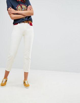 Wrangler x Peter Max Retro Straight Cord Colour Block Jean