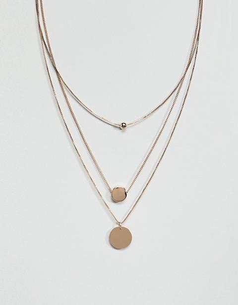 Ярусное ожерелье с круглыми подвесками Accessorize