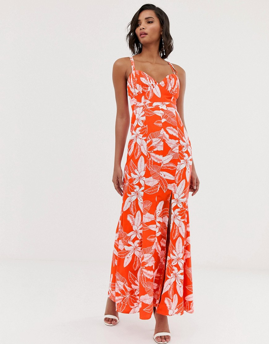 Y.A.S Floral Fishtail Maxi Dress by Y.A.S.
