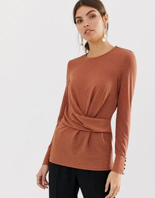 Image 1 of Y.A.S gathered long sleeved top
