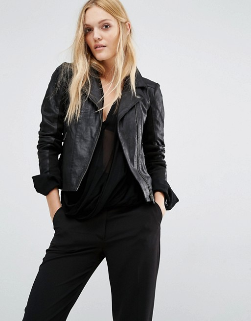 Image 1 of Y.A.S Lindsay Leather Jacket